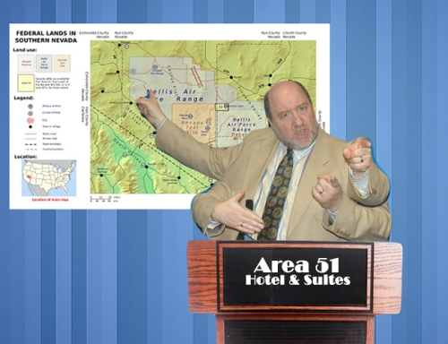 "Area 51 government employees like ""Larry"" are concerned that declassified CIA documents might draw tourists, distract workers, and ""complicate the Supreme Arachnoid's stratagem."""