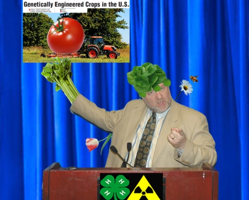 <em>Malcolm Toynbee, aka Asparagastro of the Brotherhood of Evil Mutants, explains the benefits of GMOs and orders us to obey. Obey!</em>
